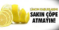 Limon kabuklarından meğerse..