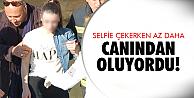 Selfie çekicem diye..
