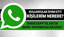 Whatsapp'ın son güncellemesi kullanıcılarınnı...
