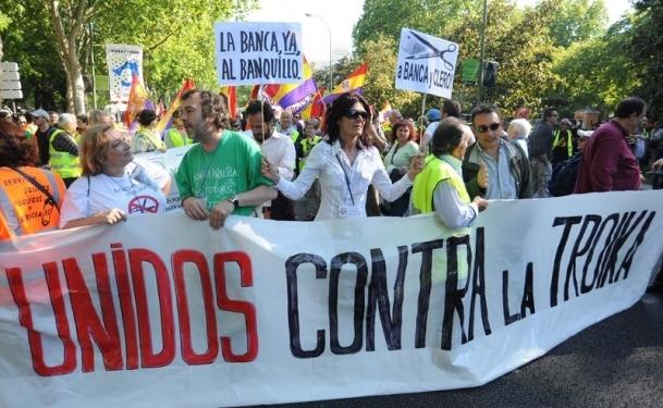 ''Troyka'ya karşı birleşmiş halklar'' gösterileri