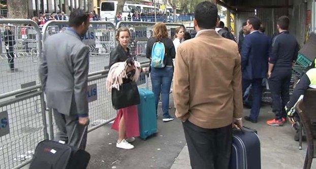 Turistlerin 1 Mayıs sürgünlüğü!