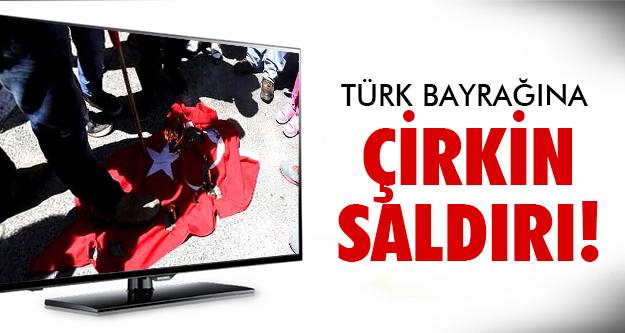 Türk bayrağını yaktılar!