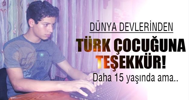 Türk çocuğunun büyük başarısı!