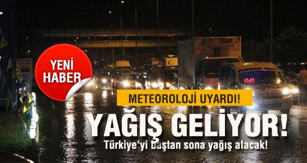 Türkiye'yi baştan sona yağış alacak!