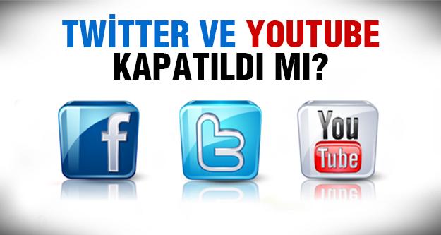 Twitter ve YouTube'a erişim engeli..