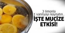 Vanilya ve Limonu suda Kaynattığınızda...