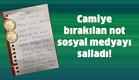 Camiye bırakılan not paylaşım rekoru kırdı