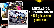 Mevsimlik işçileri taşıyan otobüs..