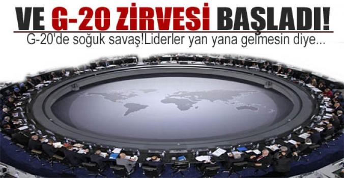 Ve G-20 zirvesi başladı...