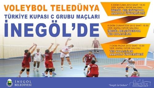 Voleybol Türkiye Kupası maçları İnegöl'de oynanacak
