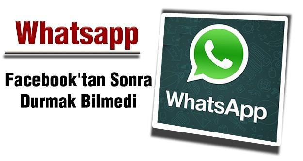 Whatsapp, Facebook'tan Sonra Durmak Bilmedi!