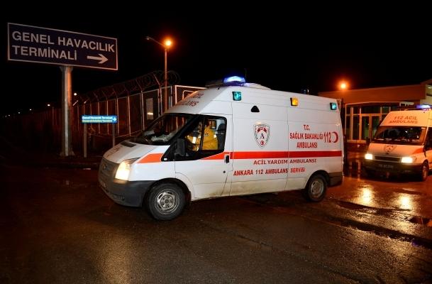 Yaralılar Ankara'da