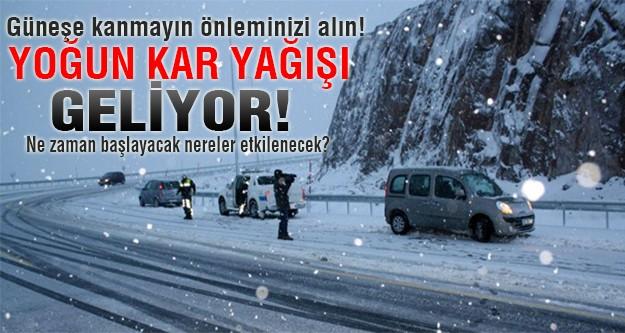 Yoğun kar geliyor önleminizi alın!