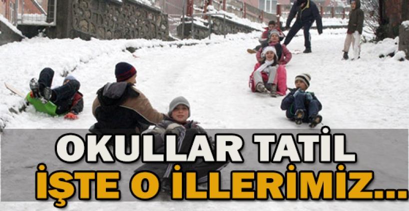 Yoğun kar yağışı ve tipi nedeniyle Kars ve ilçelerinde eğitime 1 gün ara verildi.