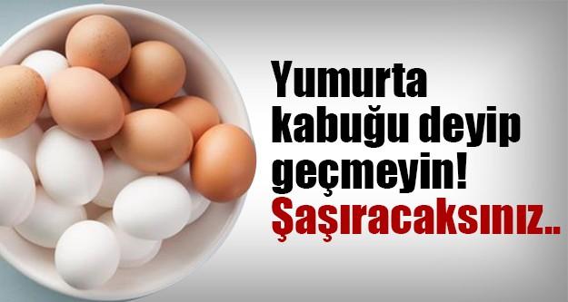 Yumurta kabuğunun faydası olur mu demeyin..