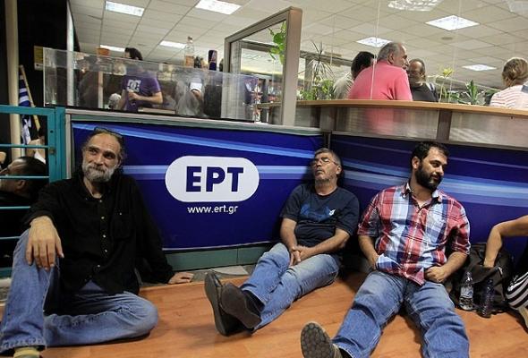Yunanistan'da basın çalışanları grevde