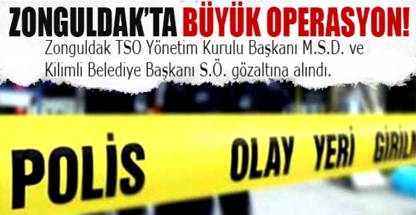 Zonguldak'ta büyük operasyon