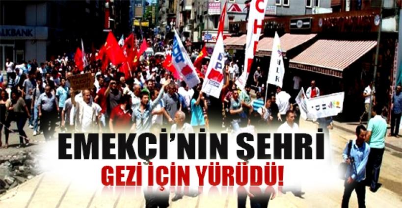 Zonguldak'ta memurlar Taksim için yürüdü