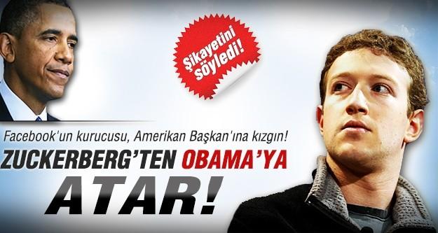 """Zuckerberg'den Obama'ya """"Atar"""""""