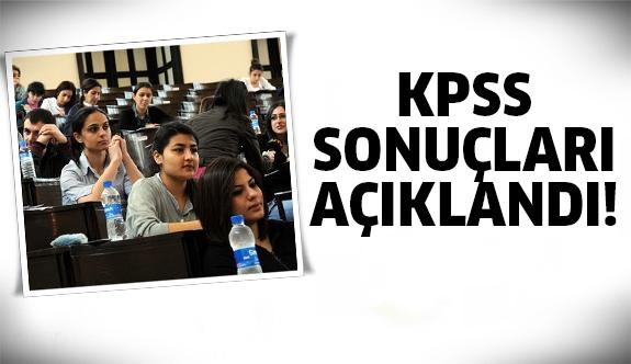 KPSS açıklandı!