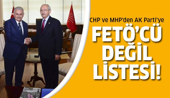 CHP ve MHP'de FETÖ listesi!