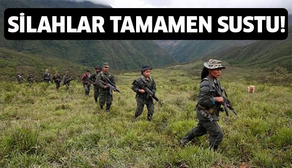 Ve tarihi an geldi! Kolombiya'da silahlar sustu..
