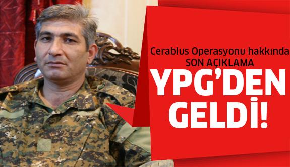 YPG'den flaş açıklama!