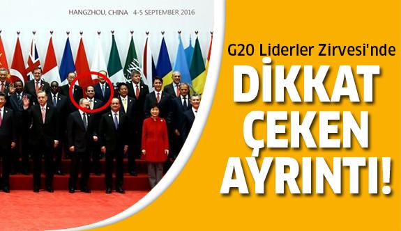 G20'de olay ayrıntı!