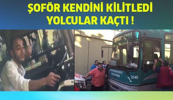 Özel halk Otobüsünün Direksiyonunda 'Pes' Dedirten Görüntüler...