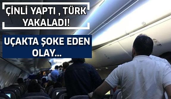 Uçakta Şoke Eden Olay: Çinli Yaptı Türk Yakaladı