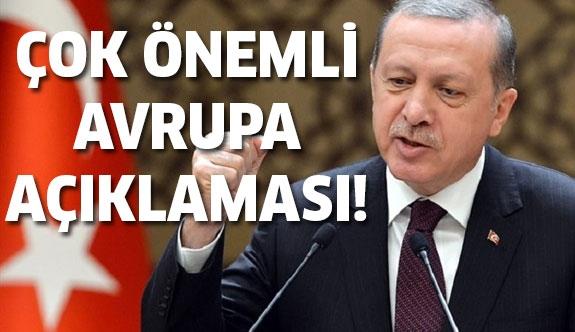 Recep Tayyip Erdoğan'dan flaş AP açıklaması!