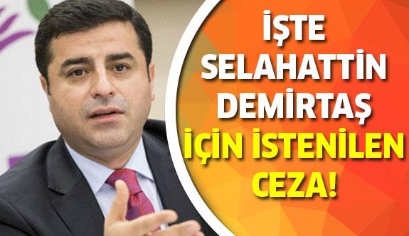 Selahattin Demirtaş için istenilen ceza belli oldu!