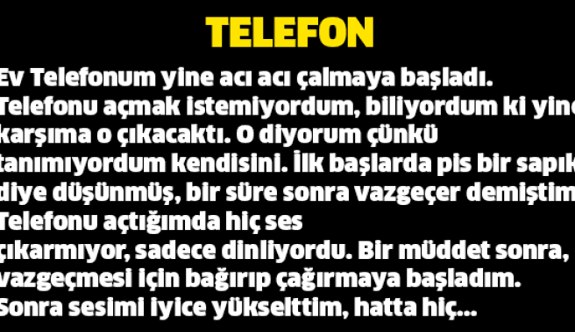 Çok güzel ve ağlatacak bir hikaye... Telefon