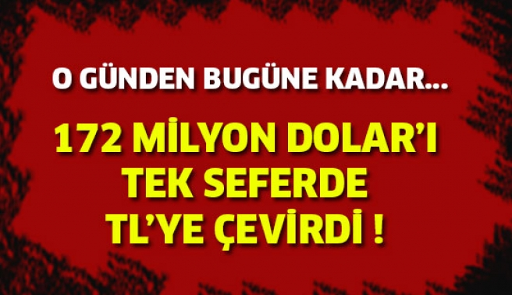 190 Milyon Dövizi TL'ye Çevirdi...
