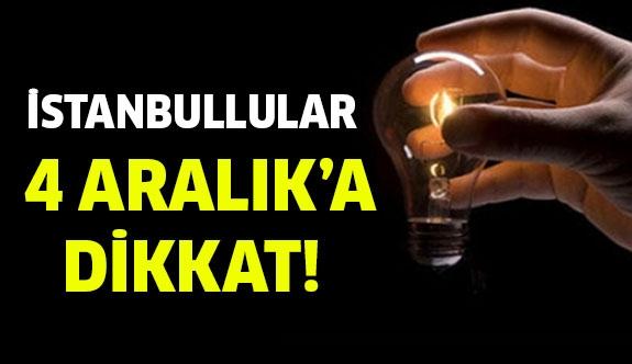 4 Aralık'a dikkat! İstanbul'da elektrik kesintisi...