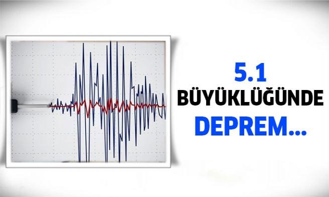 5.1 Büyüklüğünde deprem meydana geldi...