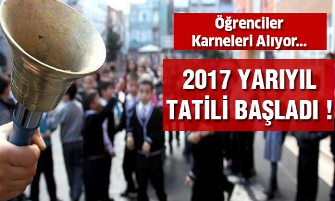 2017 Yarıyıl Tatili Başladı Öğrenciler Karneleri Aldı...