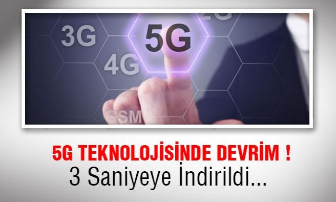 5G Teknolojisine yenilik 3 Saniyede İndirilebilecek!
