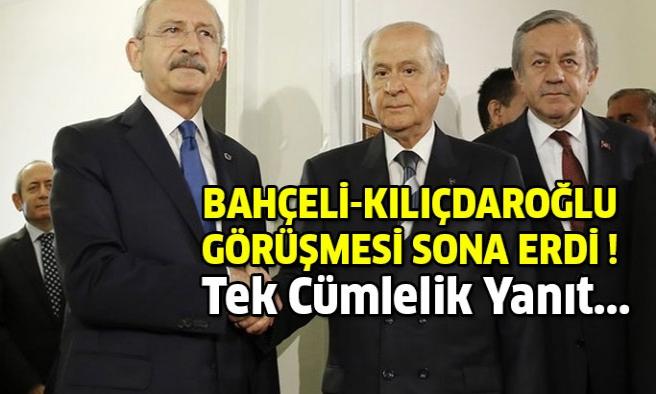 Bahçeli-Kılıçdaroğlu görüşmesinden tek cümlelik yanıt