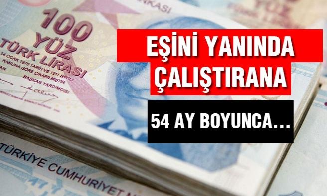 Eş Teşviği:İşverene 2.732 Lira