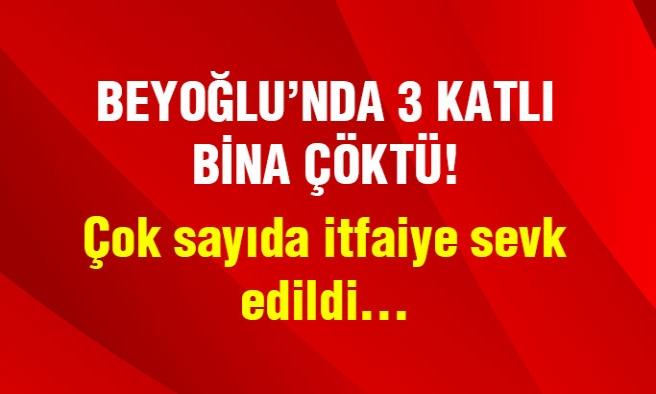 İstanbul'un Göbeğinde 3 Katlı Bina Çöktü !