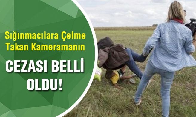 Sığınmacılara çelme takan kadın kameramanın cezası belli oldu