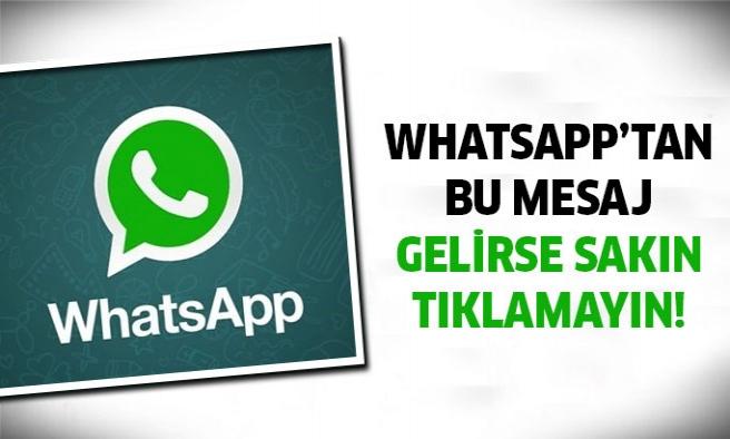 WhatsApp'tan yeni uyarı geldi!