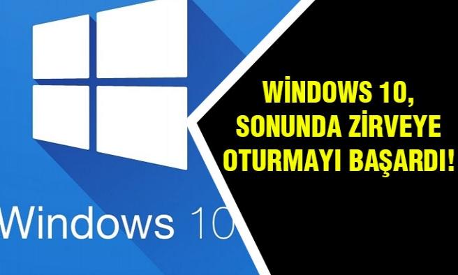Windows 10 Zirveye Oturmayı Başardı