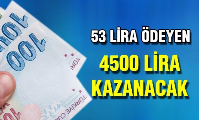 Borç Derdine Son! 53 Lira Öde 4500 Lira Kazan