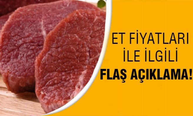 Et Fiyatlarıyla Alakalı Flaş Açıklama!