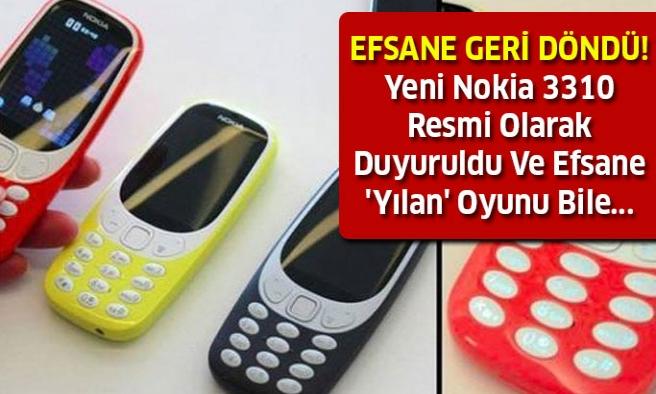 Yeni Nokia 3310 Resmi Olarak Duyuruldu!