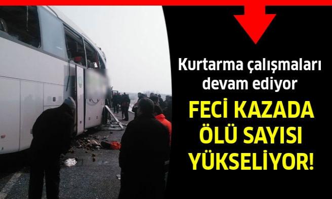 Yolcu Otobüsleri Çarpıştı! Ölü Ve Yaralılar Var
