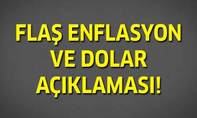 Flaş Enflasyon Açıklaması!
