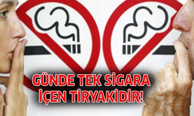 Günde Bir Sigara İçen Tiryakidir!